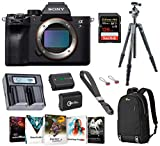 Sony Alpha a7R IV Full-Frame Mirrorless Digital Camera (Body Only), Tripod Bundle with Vanguard Carbon Fiber Tripod, Backpack, 2 Extra Battery, 128GB SD Card and Accessories