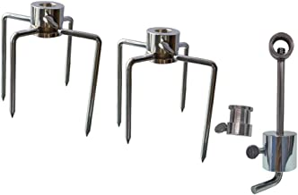 Onlyfire 6006 Grill Replacement Rotisserie Meat Forks(1-Pair) Kit with Spit Counter Balance and Bushing-Fits 1/2
