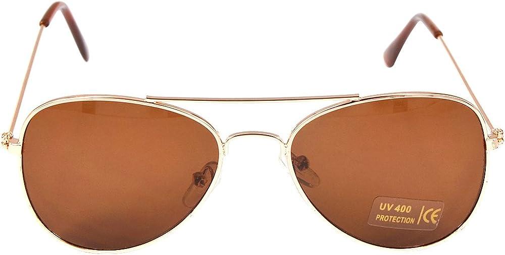 Children Aviator Ranking TOP8 Deluxe Uv400 Protection Frame Metal Sunglasses Gold