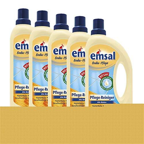 5x emsal Boden-Pflege Pflege Reiniger 1 Liter mit Biosan - Natürliche Pflege