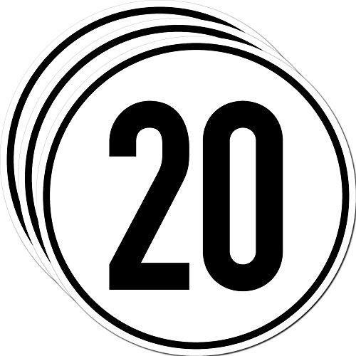 Aufkleber Sticker 20 kmh km/h 20cm Schild Geschwindigkeit für Traktor Schlepper Zugmaschine Anhänger Arbeitsmaschinen Mähdrescher (3)