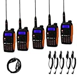 Baofeng Gt-3tp walkie talkie, 5 Radio + 1 Câble de Programmation