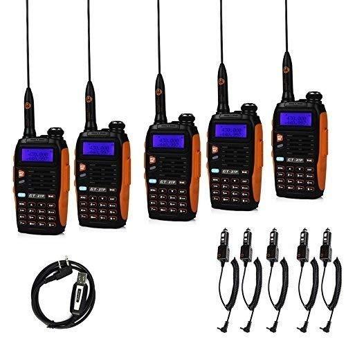 Baofeng GT-3 TP Mark III 8W 2m/70cm UHF / VHF Dual Band Hand-Funkgerät Walkie Talkie Amateur(5pcs+Kabel)