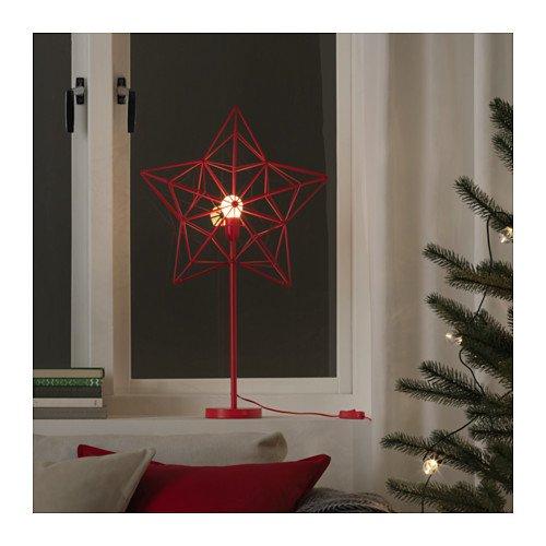 IKEA STRALA LED Tischleuchte in rot; Stern; Weihnachtsbeleuchtung; (66cm)