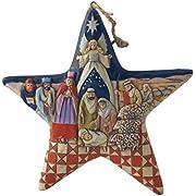 "Jim Shore Heartwood Creek Nativity Star Stone Resin Hanging Ornament, 5"""