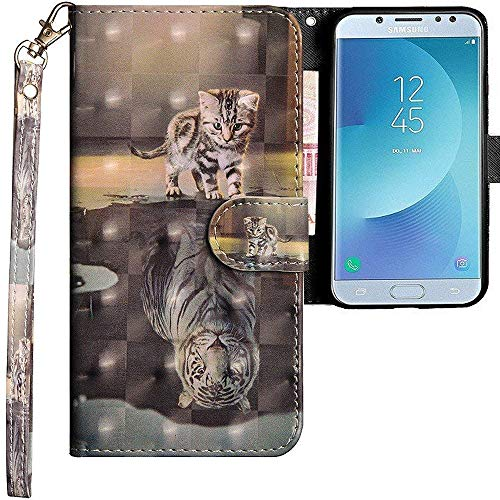 CLM-Tech Funda para Samsung Galaxy J5 2017, Carcasa Cuero sintético,