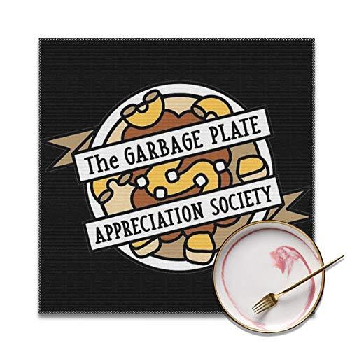Plate Appreciation Society Placemat Antifouling Polyester, Hitte- en hittebestendige anti-slip wasbare Placemat voor keuken en eten