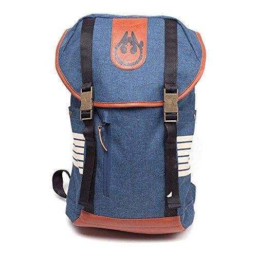 STAR WARS Han Solo Elaborated Style Rugzak met dubbele gesp riem casual Daypack, 28 cm, 20L, blauw