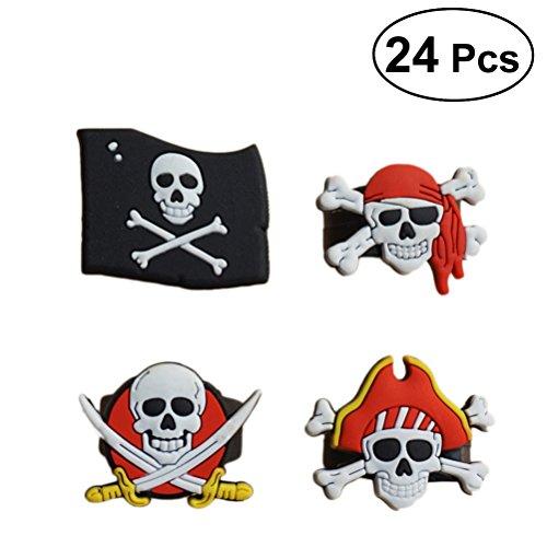 Toyvian 24 Piezas Anillos de Pirata Favores de Fiesta de Cumpleaños Anillos de...
