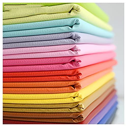 wangk Tela de Imitación de Cuero Tela Imitación de Cuero Impermeable Polipiel para Tapizar Tapicería Material De Artesanía para Tapicería, Automóvil, Manualidades (Size:1.4X1m,Color:Azul Zafiro)