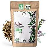 ORIGEENS BIO TULSI 100g | Indisches Basilikum, getrocknete Blätter | Bio Tulsi Tee lose ohne Teein,...