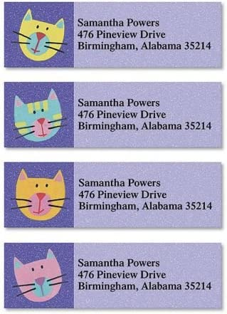 Fun Directly managed store Cats Personalized Selling Return Address Labels – 4 Se Designs
