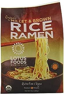 Lotus Foods Organic Millet & Brown Rice Ramen, 1 Pack (12 Noodles)