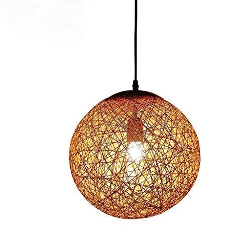 Lámpara de araña de cuerda de cannabis creativa de cáñamo para restaurante ámbar lámpara de techo para el hogar pasillo de escalera
