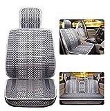Cojín de asiento de coche ergonómico Cojín de verano Tejido de verano Alfombra de fatiga transpirable, almohada lumbar para el asiento del conductor del coche de malla ( Color : Gray , Size : B )