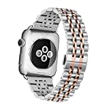 Apple Watch Armband,EloBeth Edelstahl Replacement Wrist Band Watchband Strap Uhrenarmband...