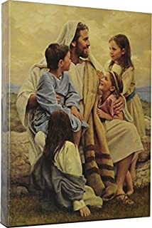 Perfect Love by Del Parson Giclee Canvas Wrap Picture of Jesus with Children