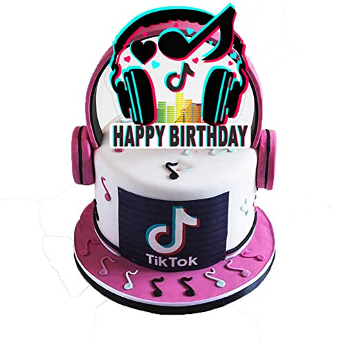 TikTok Birthday Cake Topper