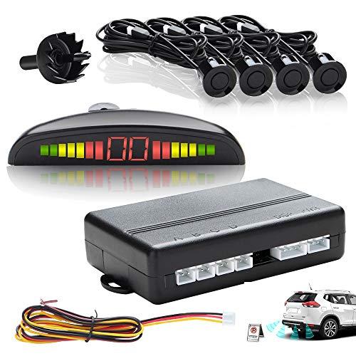 Hengda Kit 4 Sensori De Parcheggio Nero Wireless Auto Reverse Camper Display LED Acustico Allarme