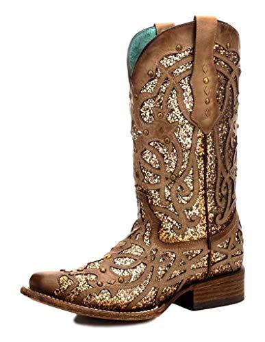 Corral Boots C3275 Brown/Orix Glitter 11 B (M)