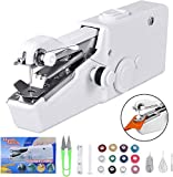 Portable Mini Electric Sewing Machine Upgraded Eco-Friendly Material Dual Speed Portable Mending Machine Durable for Beginner Fabric Sewing Practical & Gifts