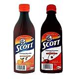 Scott Emulsion Cherry and Orange Flavor. Vitamin Supplement Rich in Cod Liver Oil, Vitamins a and D, Calcium and Phosphorus by Glaxo Smith Klein - Cereza y Naranja 200 Milliliter