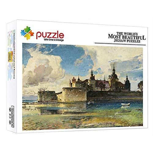 1000 Teile Kartonbox Puzzle Teile 1000 Puzzle Mit Edler Motiv Wohnlandschaft Für Die Ganze Familie 1000 Teile Spielzeug Für Erwachsene Für Freizeit Und Unterhaltung (15 X 10 Zoll)