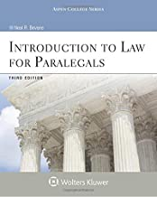 Introduction To Law for Paralegals 3e (Aspen College Series)