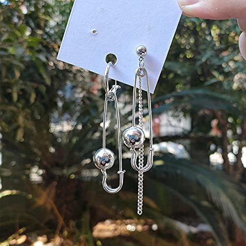 XCLWL Borlas De Cadena Larga De Metal Gotas Pendientes para Las Mujeres De La Moda Asimetría Geométrica Muy Adecuado para Reuniones De Turismo Deportivo Al Aire Libre Etc-Style_23