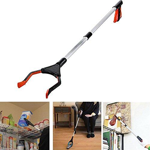 Faltbare Greifhilfe, 81,3 cm orange drehbar Handlich faltbar Greifhilfe Werkzeug erreichen Hilfe