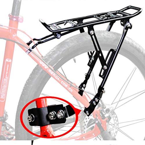 WANGLXFC Durevole Portapacchi Bici, Alluminio Seggiolino Bici Posteriore Porta Rack Bicicletta MTB Portapacchi Cargo Bicicletta Accessori, Carico Massimo 35kg, 35x15cm Comodo