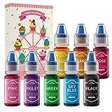 Colorante Alimentario Liquido Set Wayin 8*6ml Colorante Reposteria Alta Concentración Food Coloring...