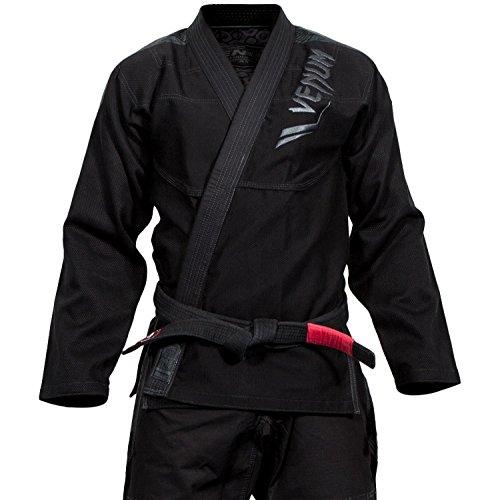 VENUM Elite Kimono BJJ GI, Unisex Adulto, Negro/Negro, A0