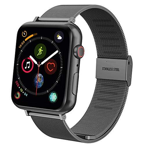 """【Cinturino Hianjoo per Apple Watch 42mm/44mm】 - Compatibile con Apple Watch Series 4/3/2/1 (misura del polso 5,5 """"-8,1"""" pollici), perfetto sostituto per la tua fascia originale. (Solo cinturino da polso, Apple Watch non è incluso!) 【Facilità di insta..."""