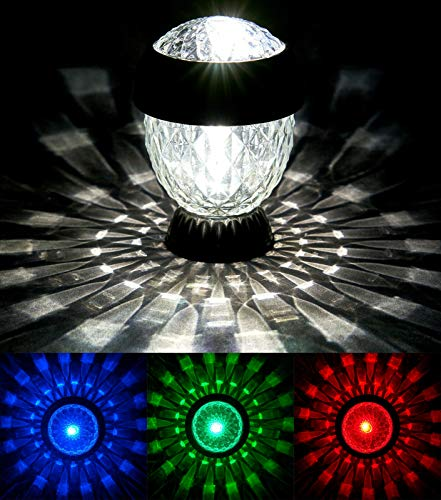 SOLITHIA Solarleuchten Serie Kristall mit Farbwechsler Anthrazit 8er Set