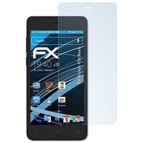 atFolix Schutzfolie kompatibel mit Archos 45b Neon Folie, ultraklare FX Bildschirmschutzfolie (3X)