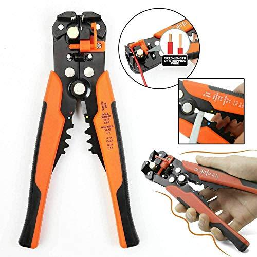 Selbsteinstellender Automatische Kabelbinder Crimp zange Kabel Drahtschneider Abisolierzange Gelb/Orange