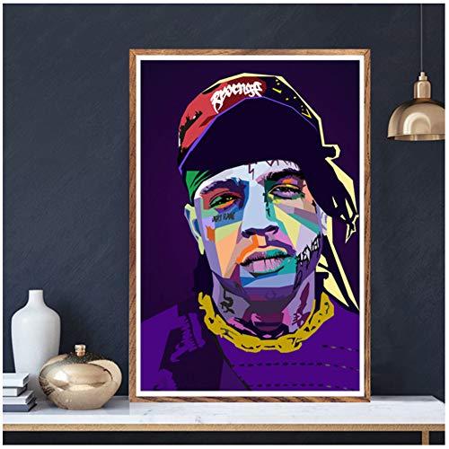 Mac Miller Kanye Juice WRLD Masker Lil Peep Rap Stars Poster Muur Foto Woonkamer Thuis Decor-50x70cm Geen Frame