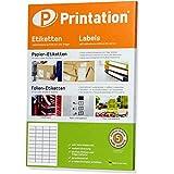 Universal Etiketten 48,5 x 25,4 mm selbstklebend weiß bedruckbar - 4000 Labels 48,5x25,4 auf 100...