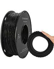 TINMORRY TPU 3D-printers, 1,75 mm, voor FDM 3D-printers, 1 kg, 1 spoel, zwart