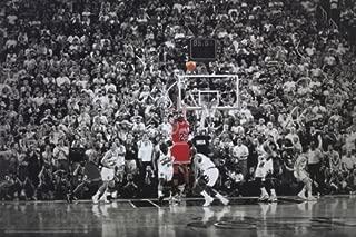Michael Jordan - Title Winning Last Shot for Chicago Bulls - Poster