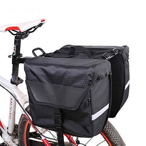 Bolsas para sillines Gran capacidad impermeable de la bicicleta asiento trasero de la bicicleta Pannier Bike Pannier Trunk Bag Pannier Fit para el viaje en bicicleta para Bicicleta Ciclismo MTB