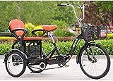 Triciclos Adultos para Adultos Adultos Adultos Adulto 20 Pulgadas 3 Bicicletas 3 Ruedas con Gran recreación Cesta de Compras Hombre de Picnic Hombres Hombres Hombres Hombres-Nerón