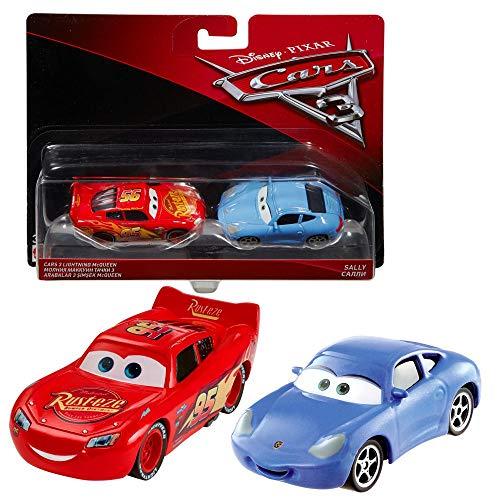 Doppelpack Modelle Auswahl | Disney Cars 3 | Cast 1:55 Fahrzeuge Auto | Mattel, Typ:Lightning McQueen & Sally