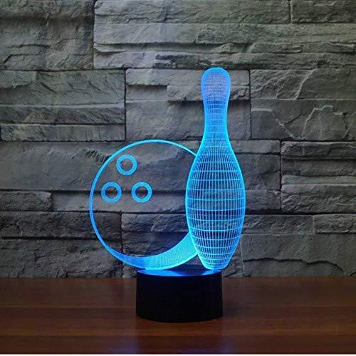 Steuerung Bowlingkugel 3D Licht LED Tischlampe Optische Täuschung Bulbing Nachtlicht 7 Farben Ändern der Stimmung Lampe USB Lampe Illusion Weihnachten