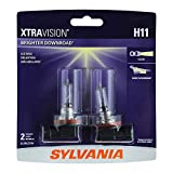 SYLVANIA - H11 XtraVision - High Performance Halogen Headlight Bulb, High Beam, Low Beam and Fog Replacement Bulb (Contains 2 Bulbs) (H11XV.BP2)