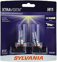 SYLVANIA - H11 XtraVision - High Performance Halogen Headlight Bulb, High Beam, Low Beam and Fog Replacement Bulb (Contains 2 Bulbs) (H11XV.BP2)