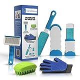 Pet Brush Kit - Dog Brushes for Shedding - Grooming Glove - Pet Hair...