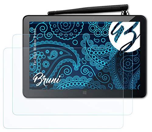 Bruni Schutzfolie kompatibel mit Odys Winbox 9 inch Folie, glasklare Bildschirmschutzfolie (2X)
