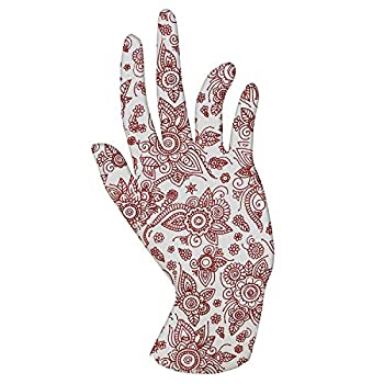 Malcolm s Miracle HENNA Moisturizing Gloves - Lasts 2 years - Made in the USA  Small HENNA